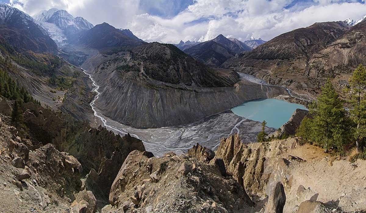 Gangapurna glacier and lake Manang